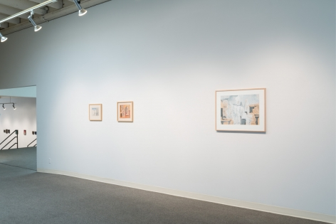 Louis Bunce installation view February 2017