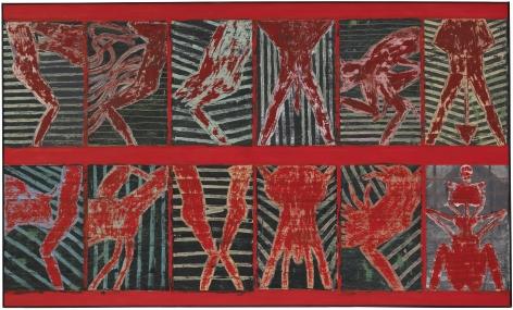 Michael Spafford (b. 1935)  12 Labors of Hercules, 1995  oil on canvas