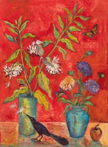 Kim Osgood (b. 1955)  All in Balance: Milkweed and Monarch, 2021