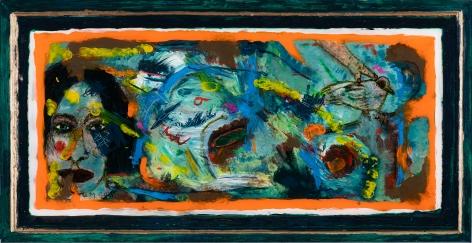 Gregory Grenon (b. 1948)  Hand Bird, 2020  oil on Plexiglas