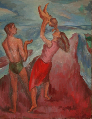 Family on the Beach (Red)
