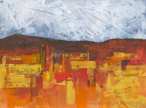 Margot Voorhies Thompson - Vivid Desert, Darkening Sky
