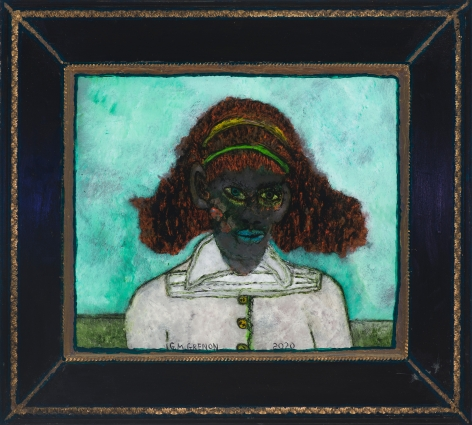 Gregory Grenon (b. 1948)  Natural Woman, 2020  oil on glass