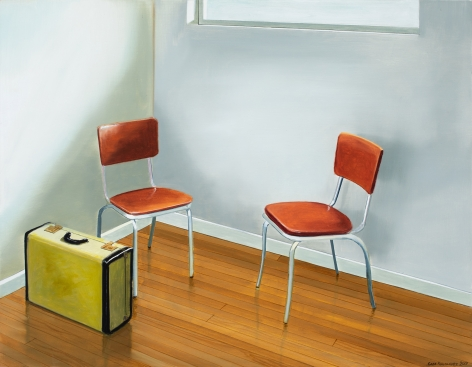 Gabe Fernandez - Kitchen Chairs and Green Suitcase