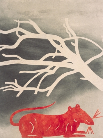 Untitled 11 (red rat and tree)