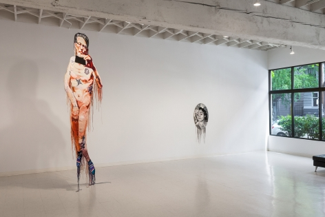 Jo Hamilton | The Matriarchs, the Masked, and the Naked Man | May 2019 | Russo Lee Gallery | Installation View 06