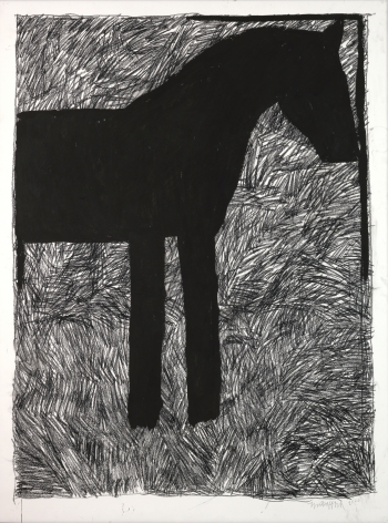 Michael Spafford (b. 1935)  Trojan Horse Series #1, 2020  India ink and charcoal on paper