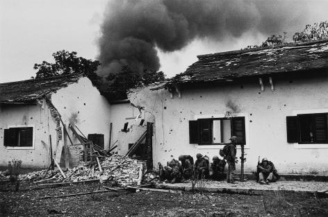 Don McCullin, Damaged Schoolhouse, Tet Offensive, Hue, 1968, Howard Greenberg Gallery, 2019