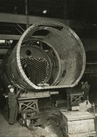 Baldwin Locomotive Works, Eddystone, Pennsylvania, 1936-37  Gelatin silver print: printed c.1936-37  4 5/8 x 6 5/8 inches