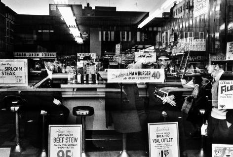 Hamburger 40c, New York, 1955