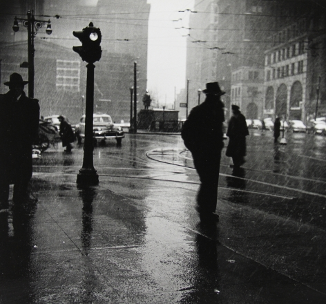 Arthur Leipzig - Rain, 1945 - Howard Greenberg Gallery