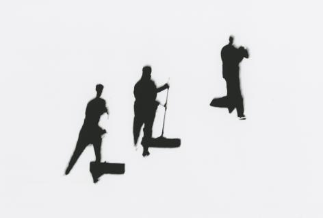 Marvin Newman - Ice Skating Cleaning, Rockefeller Center, N.Y., 1952 - Howard Greenberg Gallery