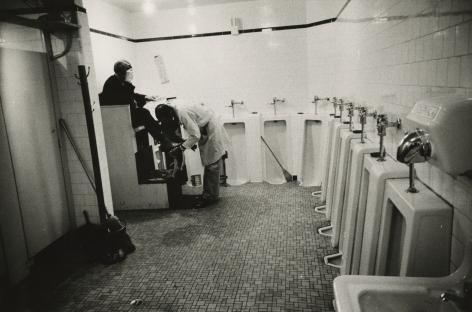 Robert Frank, Men's room, railway station, Memphis, Tennessee, 1955, Howard greenberg gallery, 2019