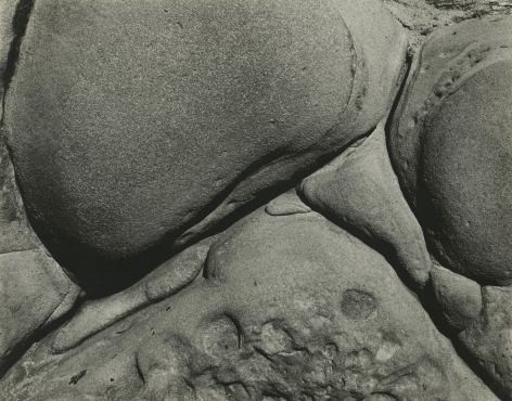 Edward Weston - Eroded Rock, Point Lobos, California (#18), 1930-31 - Howard Greenberg Gallery