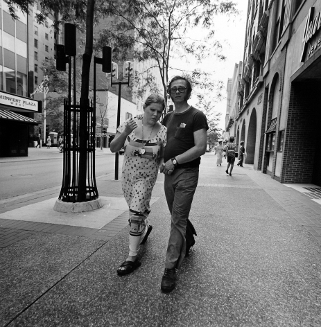 Tom Arndt - Couple walking on the Nicolett Mall, 1975  - Howard Greenberg Gallery