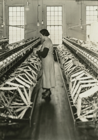 Lewis Hine, Silk skeins on winding creels or swifts. Paterson, New Jersey, March 18, 1937