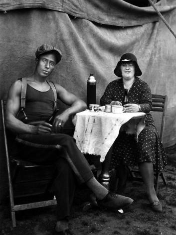 August Sander - Circus Workers, Duren, 1930 - Howard Greenberg Gallery