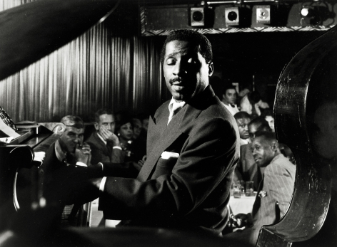 "Dennis Stock - Erroll Garner, American Jazz Pianist at the ""Three Duces"", NY, 1958 - Howard Greenberg Gallery"