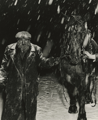 Weegee - Incident in the Snowstorm, 1948 - Howard Greenberg Gallery