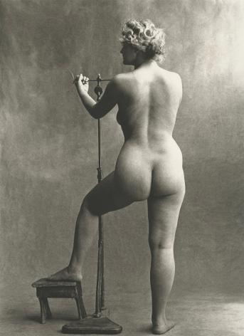 Irving Penn, Sculptor's Model, Paris, 1950, Platinum Palladium print, Howard Greenberg Gallery, 2019