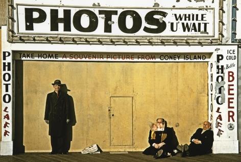 Marvin Newman - Winter Boardwalk, 1953  - Howard Greenberg Gallery