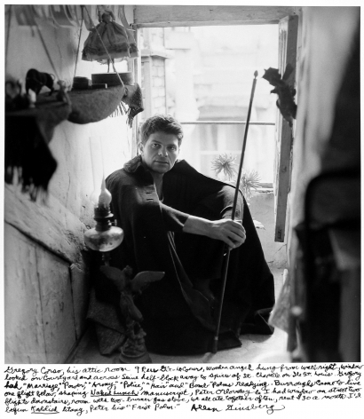 Allen Ginsberg - Gregory Corso in his attic room, Paris, 1957 - Howard Greenberg Gallery