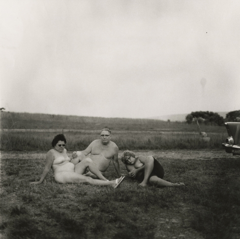Diane Arbus Family with Car, Nudist Camp, Pennsylvania, 1965