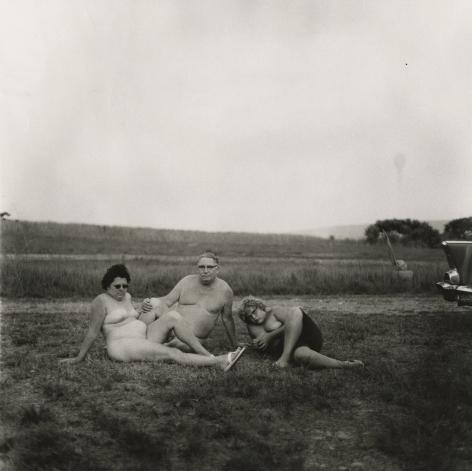 Diane Arbus Family with Car, Nudist Camp, Pennsylvania, 1965