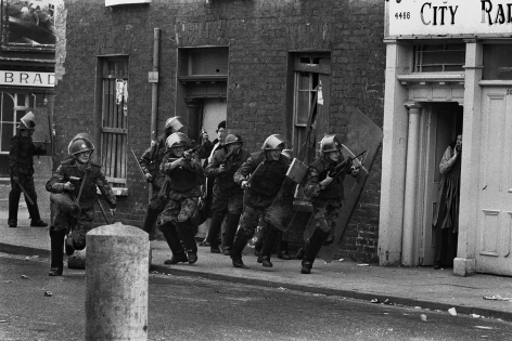 Don McCullin, The Bogside, Derry, Northern Ireland, 1971, Howard Greenberg Gallery, 2019