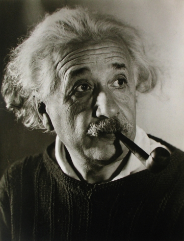 Roman Vishniac - Albert Einstein in Princeton, c. 1941 - Howard Greenberg Gallery
