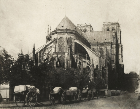 Charles Marville - Abside de L'Eclise de Notre Dame, before 1872 - Howard Greenberg Gallery