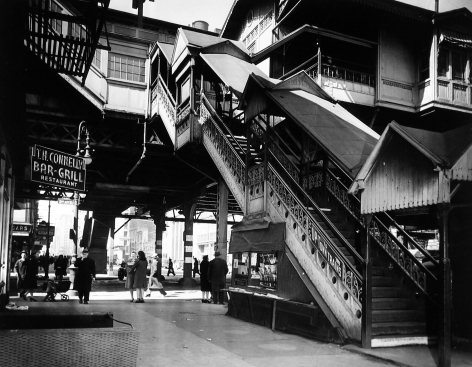 Arnold Eagle - Third Avenue El, 14th Street, NYC, 1936 - Howard Greenberg Gallery