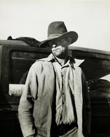 Dorothea Lange - Texas farmer in California looking for work for himself and his family, c.1935 - Howard Greenberg Gallery