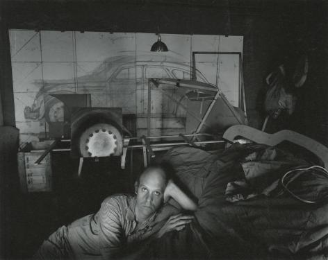 Arnold Newman - Claes Oldenburg, 1967 - Gelatin silver print; printed c.1967