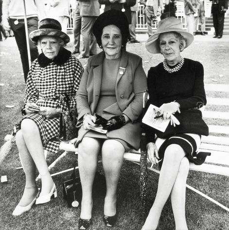 David Goldblatt - Untitled (three ladies dressed for afternoon outing), c.1972 - Howard Greenberg Gallery