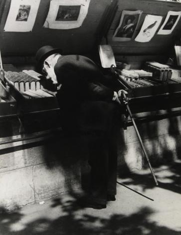 Brassaï - Professor Louis Dimier, Member of the Institute, on Quay Voltaire, Paris, c.1932 - Howard Greenberg Gallery
