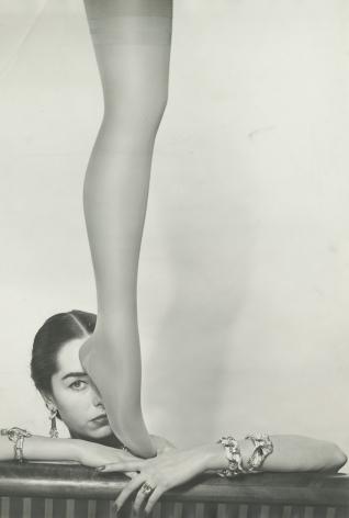 Erwin Blumenfeld, Brian Stocking Leg & Shadow, New York, 1952, Howard Greenberg Gallery, 2020
