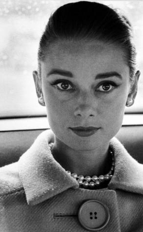 Henry Wolf - Audrey Hepburn close-up portrait, c.1959 - Howard Greenberg Gallery