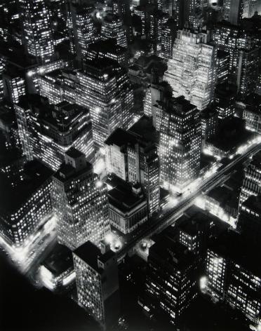 Berenice Abbott - Night View, New York - Howard Greenberg Gallery