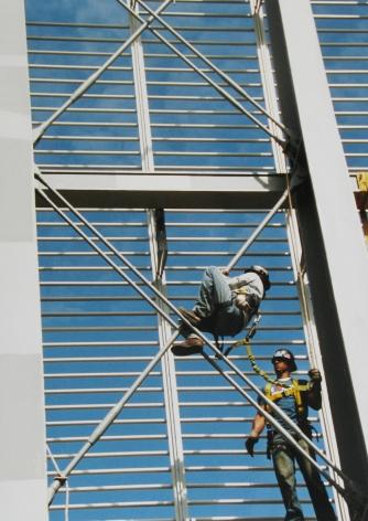 Marc Riboud: Eiffel Tower & New York Times building 2008 Howard Greenberg Gallery