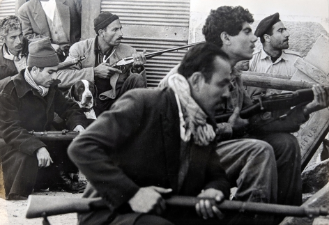 Don McCullin, Turks Awaiting Attack, Limassol, Cyprus, 1964, Howard Greenberg Gallery, 2019