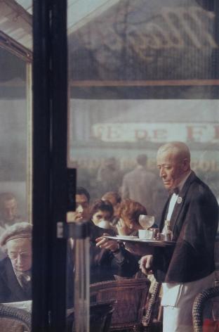 Saul Leiter, Waiter, Paris, 1959, Howard Greenberg Gallery, 2019