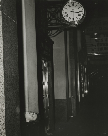 Weegee - Times Square, 3:30 A.M. Thursday, American Savings Bank, 1946 - Howard Greenberg Gallery