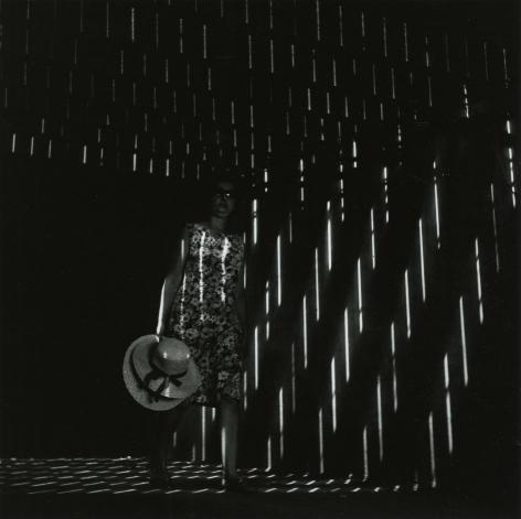 """Ray K. Metzker - 66 FE-12, Atlantic City, from """"Under the Boardwalk,"""" 1966 - Howard Greenberg Gallery"""