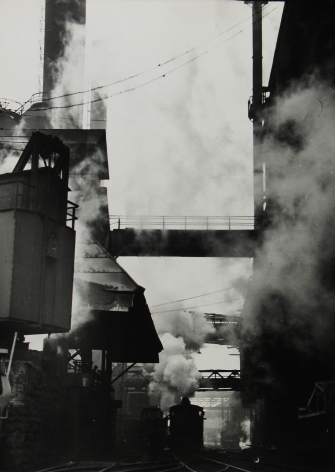 Margaret Bourke-White - Steaming hot steel slag, Pittsburgh, 1936 - Howard Greenberg Gallery