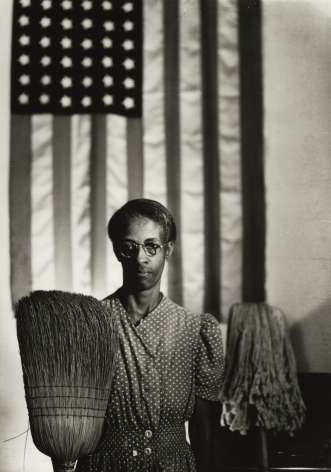 Gordon Parks - American Gothic, Washington, D.C., 1942 - Howard Greenberg Gallery