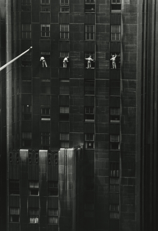 Inge Morath - Window Washers, 48th Street, New York, 1958 - Howard Greenberg Gallery