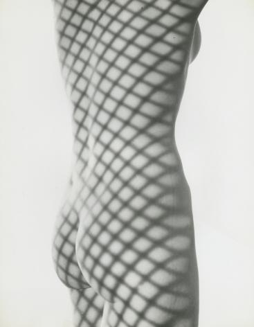 Erwin Blumenfeld, Nude with Screen Shadow, New York, 1948, Howard Greenberg Gallery, 2020