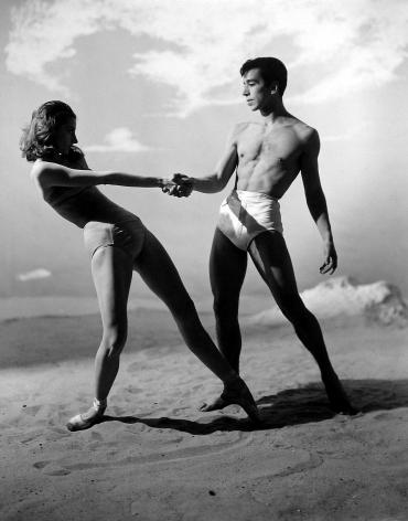 "George Platt Lynes - Tanaquil Le Clerq and Nicholas Magellanes, ""Jones Beach,"" The New York City Ballet, 1950 - Howard Greenberg Gallery - 2018"
