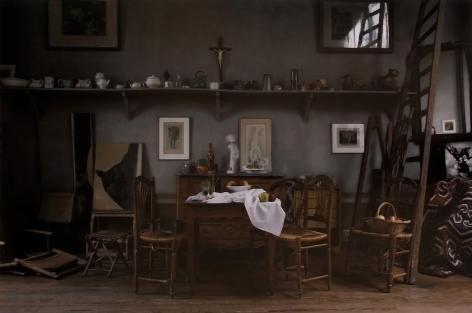 Joel Meyerowitz - Cezanne's Studio, Table, 2011 - Howard Greenberg Gallery